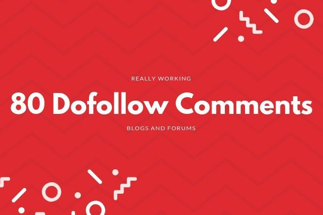80 SEO Dofollow блог и форум комментариев с Активной ссылкой 1 - kwork.ru
