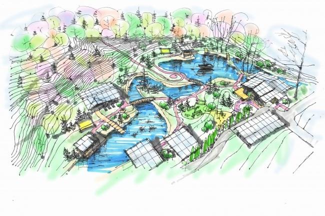 Выполню концепцию ландшафта загородного участка в стиле архскетчинга 4 - kwork.ru
