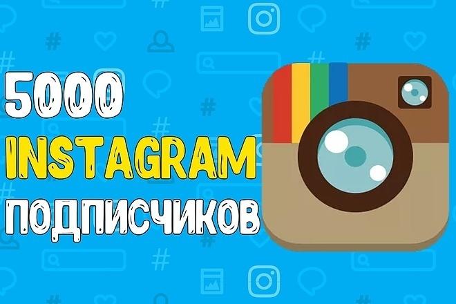 Добавлю 5000 подписчиков в Instagram с гарантией от списания 1 - kwork.ru