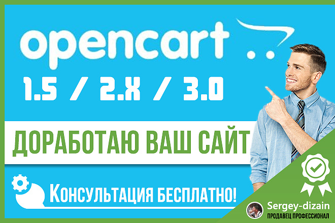 3 мелких доработки на Опенкарт + бонус аудит и рекомендации 1 - kwork.ru