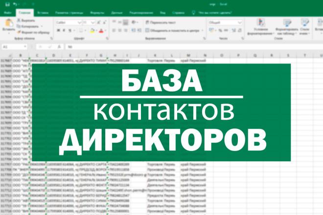 База контактов директоров, ЛПР компаний РФ. Телефон, e-mail. 500к 1 - kwork.ru