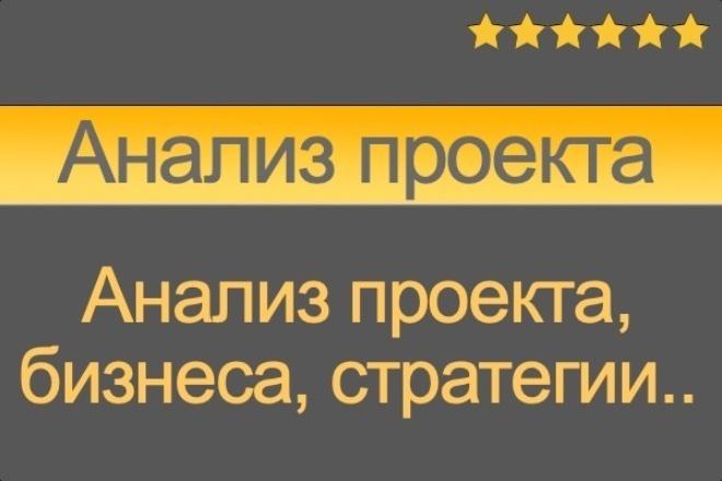 Анализ Вашего проекта, бизнеса, стратегии 1 - kwork.ru