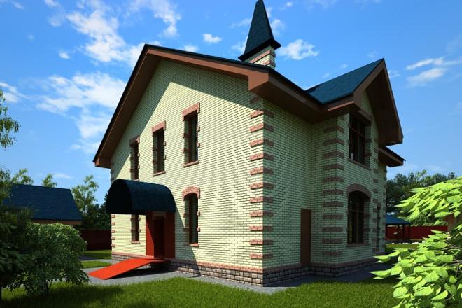 Создам архитектурную визуализацию по готовой модели с одного ракурса фото