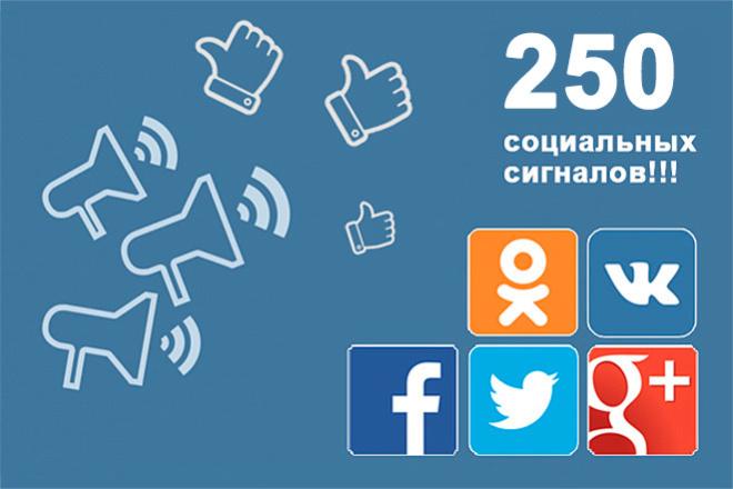 250 соц сигналов вручную людьми из VK, FB, OK, TW 1 - kwork.ru