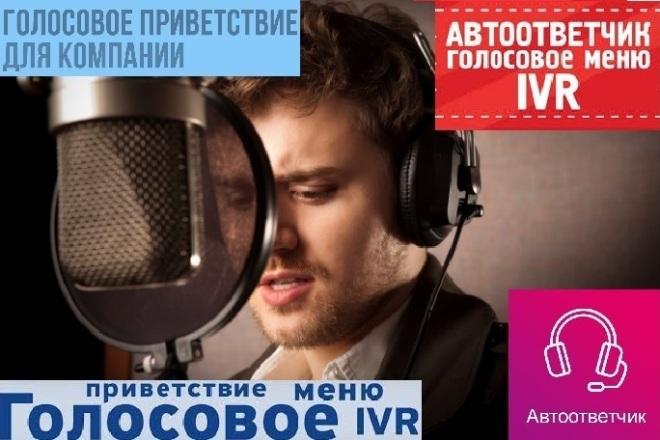 Диктор, Озвучу Автоответчик, Голосовое приветствие, Меню, IVR, дозвон 1 - kwork.ru
