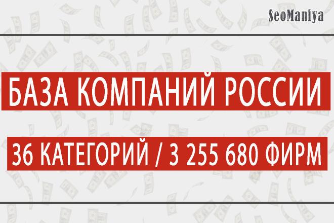 Полная e-mail база компаний всей России 1 - kwork.ru