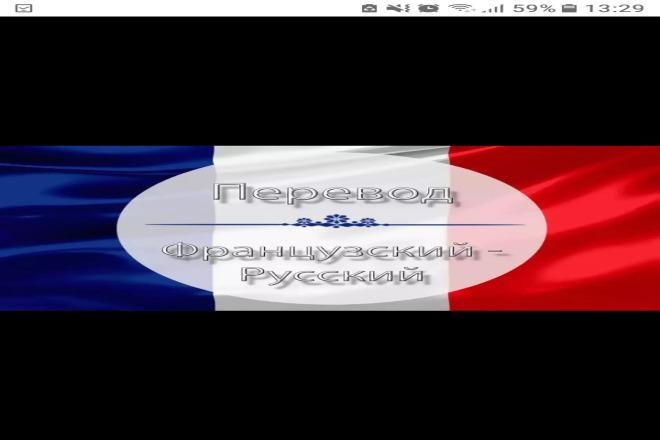 Качественный перевод с французского языка на русский язык 1 - kwork.ru