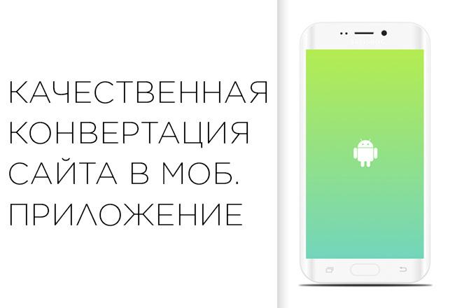 Качественная конвертация сайта в мобильное приложение 5 - kwork.ru