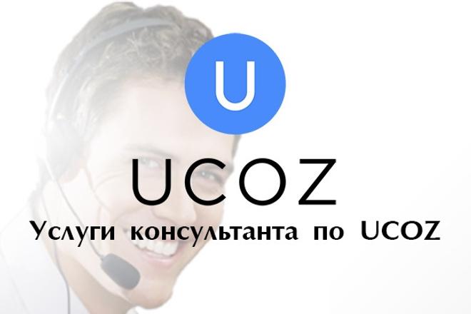 Консультации по созданию и продвижению сайта на UCOZ 1 - kwork.ru