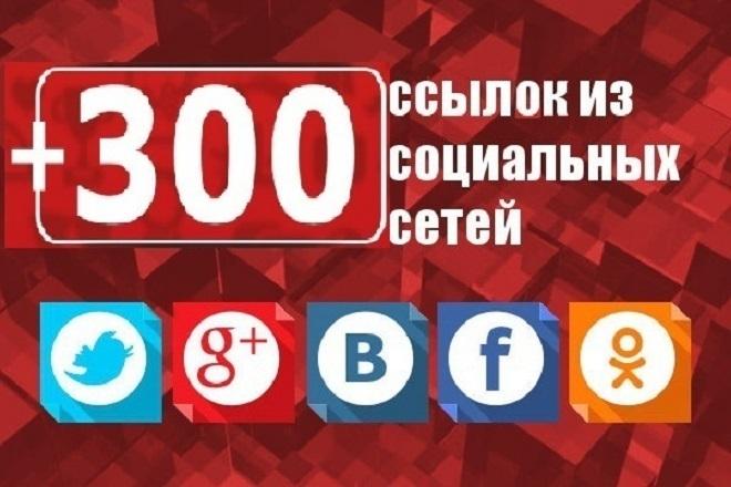 300 ссылок, сигналов на ваш сайт из социальных сетей VK, ОК, FB, G+, TW 1 - kwork.ru