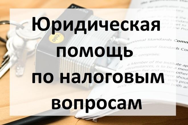 Юридическая помощь по налоговым вопросам 1 - kwork.ru