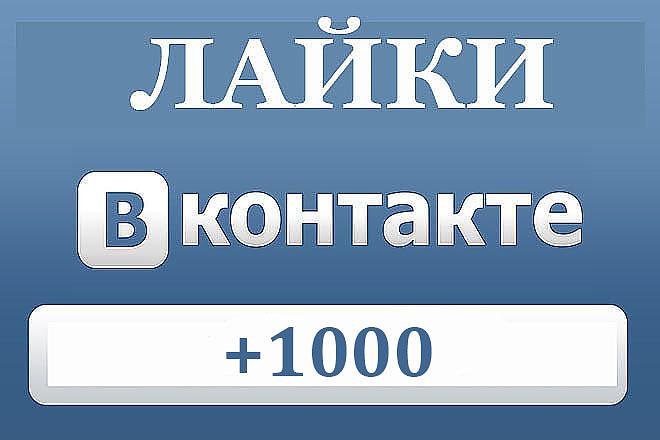 1000 лайков ВКонтакте 1 - kwork.ru