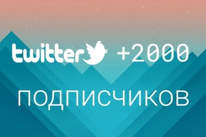 1700 подписчиков на Ваш аккаунт в Twitter 1 - kwork.ru