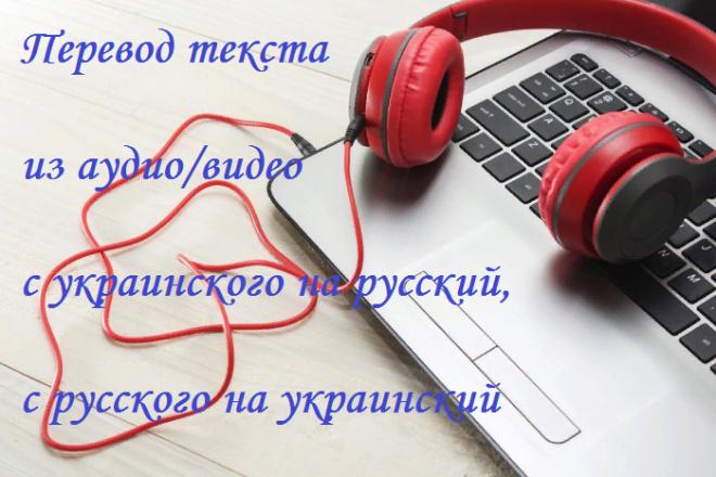 Перевод с аудио и видео 1 - kwork.ru