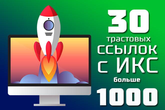 30 жирных трастовых ссылок с ИКС от 1000 1 - kwork.ru