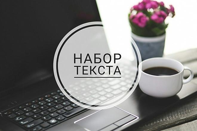 Набор текста с изображений, видео или аудио 1 - kwork.ru