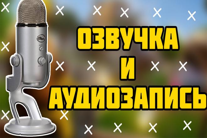 Озвучка любого текста на профессиональный микрофон за 30 минут 1 - kwork.ru