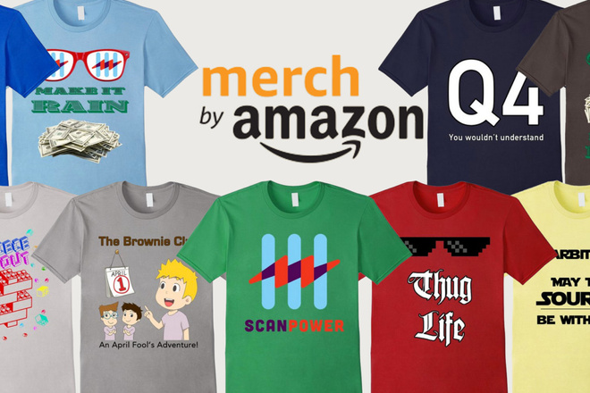Merch by Amazon - создаем прибыльный бизнес на дизайне без вложений 1 - kwork.ru