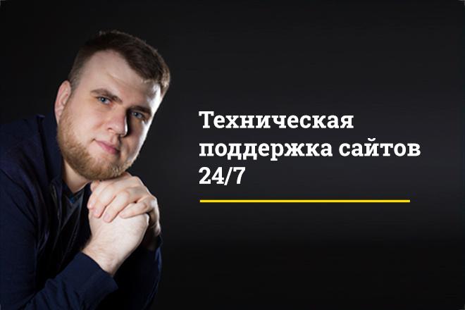 Техническая поддержка сайтов на wordpress или bitrix 1 - kwork.ru