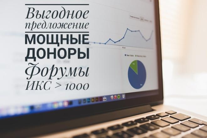 10 жирных крауд-ссылок с ИКС больше 1000 - только ручное размещение 1 - kwork.ru