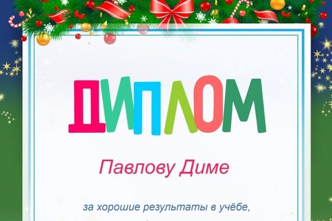 Изготовлю шаблон диплома, сертификата или грамоты 17 - kwork.ru