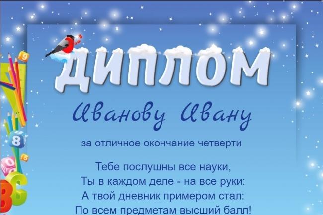 Изготовлю шаблон диплома, сертификата или грамоты 18 - kwork.ru