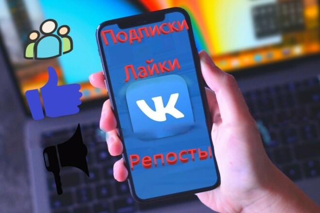 1000 Подписчиков в группу или паблик ВК 1 - kwork.ru