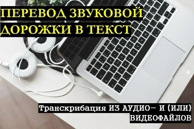 Перевод звуковой дорожки из аудио или видео в текст 1 - kwork.ru