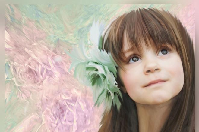 Портрет по фото, имитация масляных красок или акварели 4 - kwork.ru