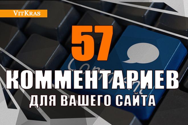 57 уникальных тематических комментариев для вашего сайта 1 - kwork.ru