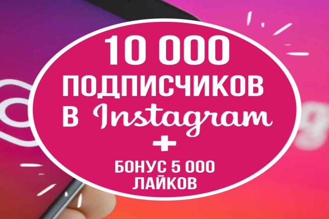 10000 подписчиков 1 - kwork.ru