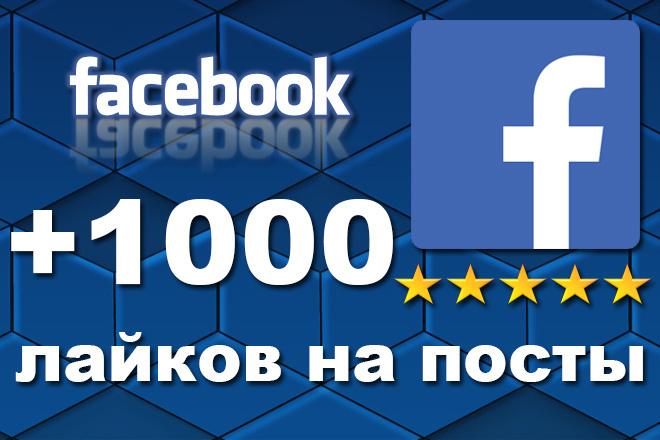 +1000 живых лайков на посты Facebook 1 - kwork.ru