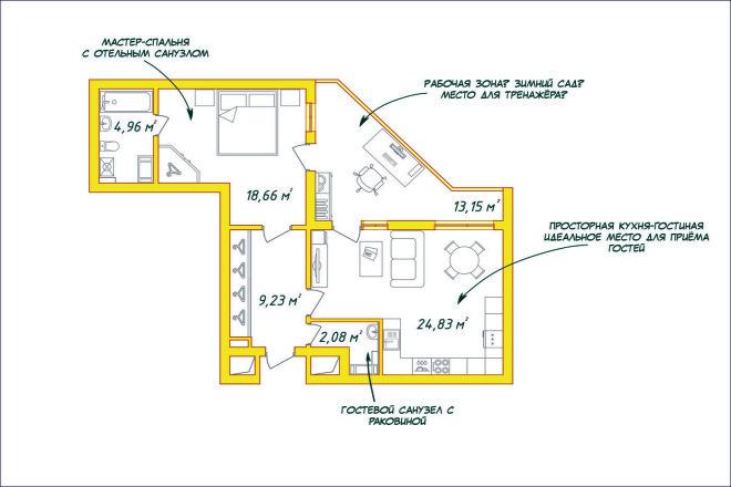 Создам план в ArchiCAD 22 - kwork.ru