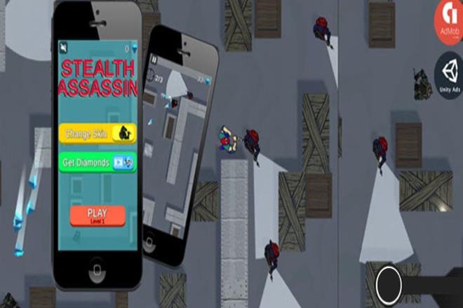 Готовый Проект Stealth Assassin Для Unity + AdMob 4 - kwork.ru