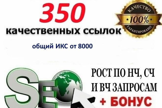350 вечных качественных ссылок на ваш сайт, общий ИКС от 8000 1 - kwork.ru