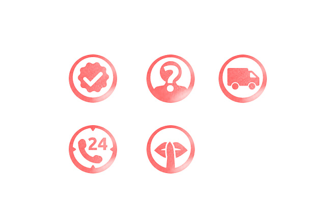 Иконки для сайта, 5 штук в комплекте 1 - kwork.ru
