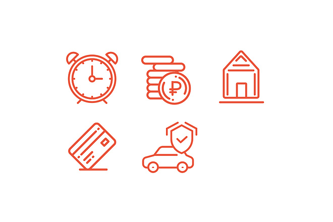 Иконки для сайта, 5 штук в комплекте 2 - kwork.ru