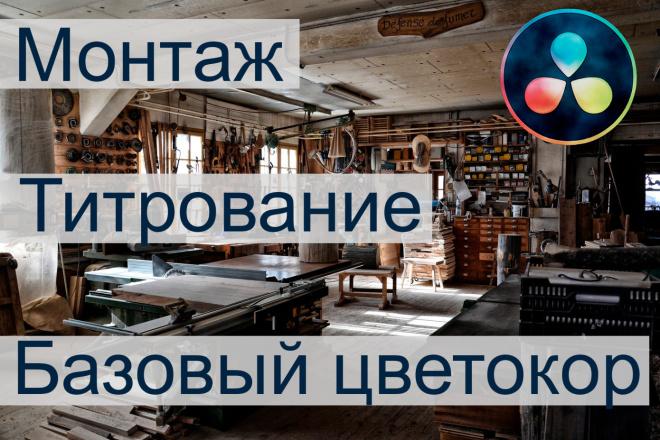 Монтаж, базовый цветокор, титрование видео 1 - kwork.ru