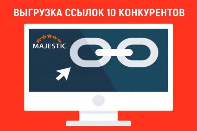 Выгрузка ссылок 5 сайтов из Majestic 1 - kwork.ru