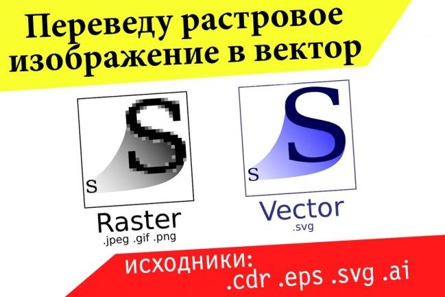 Перевод изображения в вектор - быстро 18 - kwork.ru