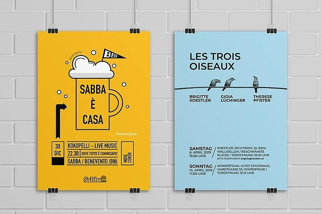Плакат, афиша, постер, современный дизайн, градиенты, минимализм, флэт 4 - kwork.ru