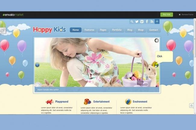 Тема Happy Kids для WordPress на русском с обновлениями и плагинами 5 - kwork.ru