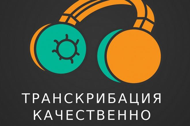 Транскрибация аудио и видео 30 минут без орфографических ошибок 1 - kwork.ru