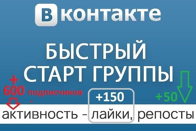 Безопасная раскрутка группы Вконтакте - подписчики, лайки и репосты 1 - kwork.ru