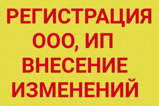 Подготовка документов  для регистрации и внесение изменений в ООО, ИП 1 - kwork.ru