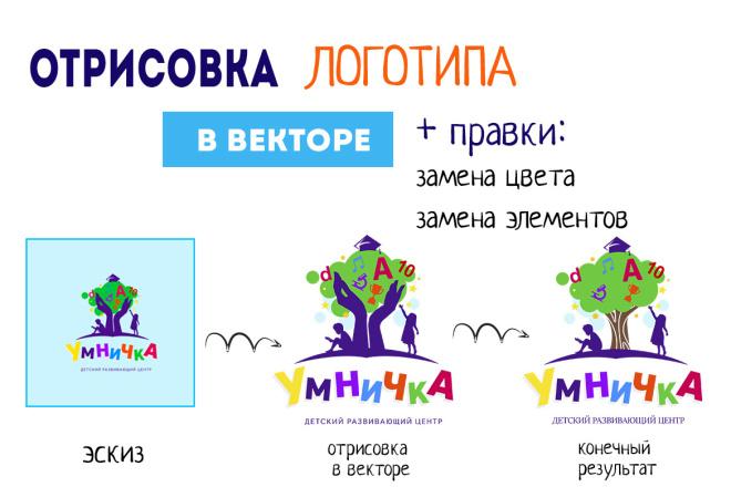 Отрисовка логотипа в векторе по Вашему эскизу 4 - kwork.ru