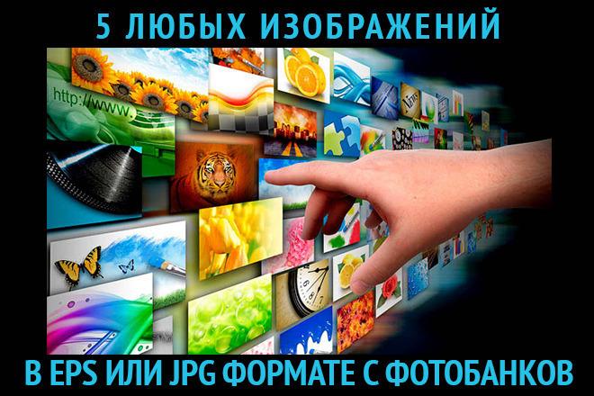 5 любых изображений в eps или jpg формате с фотобанков 1 - kwork.ru