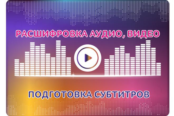Расшифровка аудио, видео в текст. Транскрибация. Подготовка субтитров 1 - kwork.ru