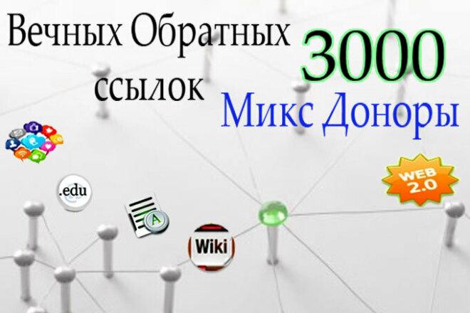 3000 вечных обратных ссылок - микс доноры 1 - kwork.ru