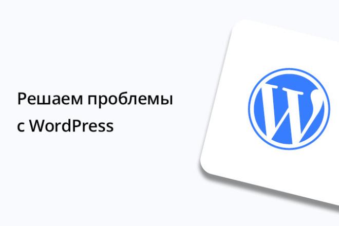 Решаем проблемы с WordPress 1 - kwork.ru